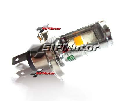 Jual Lampu LED H4 HS1 Mobil Motor 2 Sisi Kuning Warm White