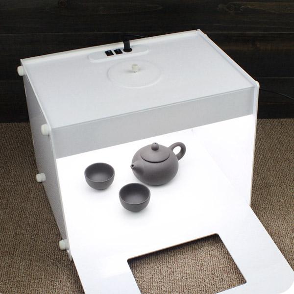 jual mini studio kit with led studio box photo booth. Black Bedroom Furniture Sets. Home Design Ideas