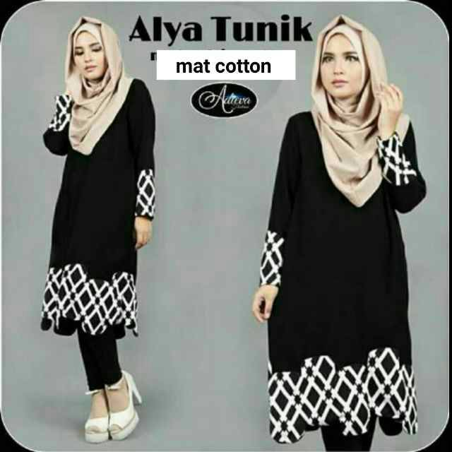 alya tunik/baju muslim terbaru/ dress hijab wanita