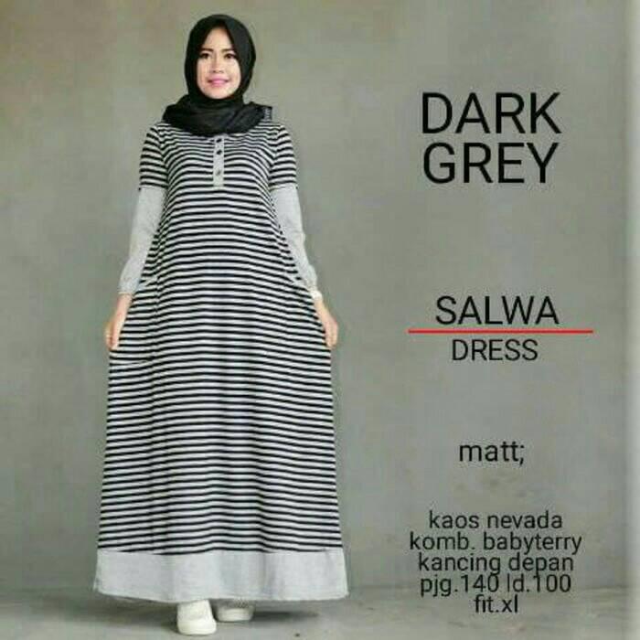 Salwa Dress / baju menyusui / gamis murah / hijab model baru