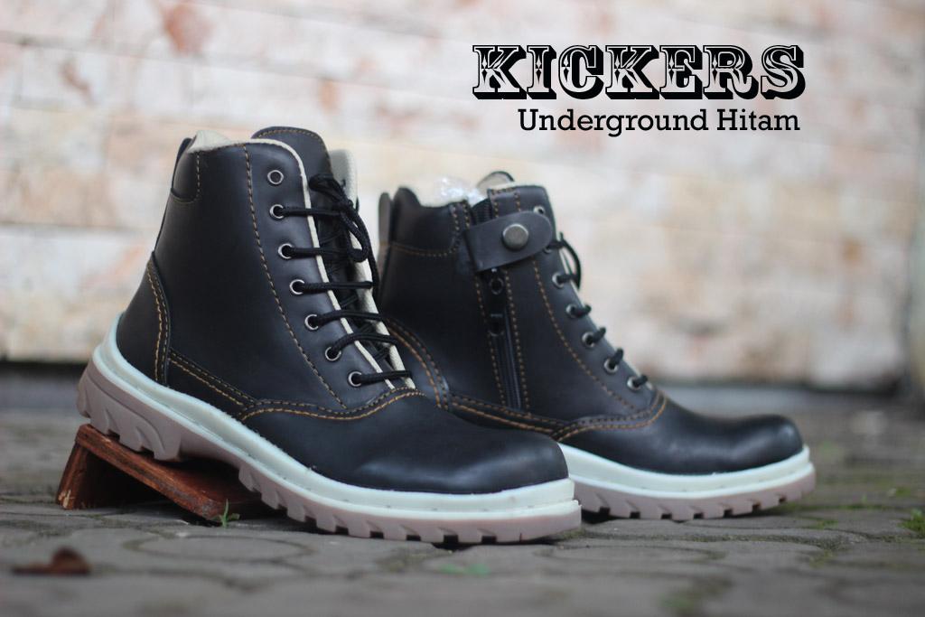 Sepatu Kickers safety Underground Warna Hitam