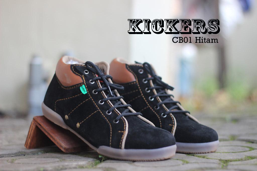 Sepatu Kickers Casual CB01 Hitam Suede