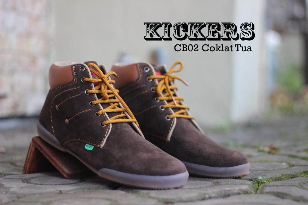 Sepatu Kickers CB02 Warna Colat Tua Suede