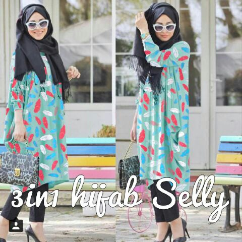 CJN-3in1 Hijab Selly TOSCA / SETELAN HIJAB