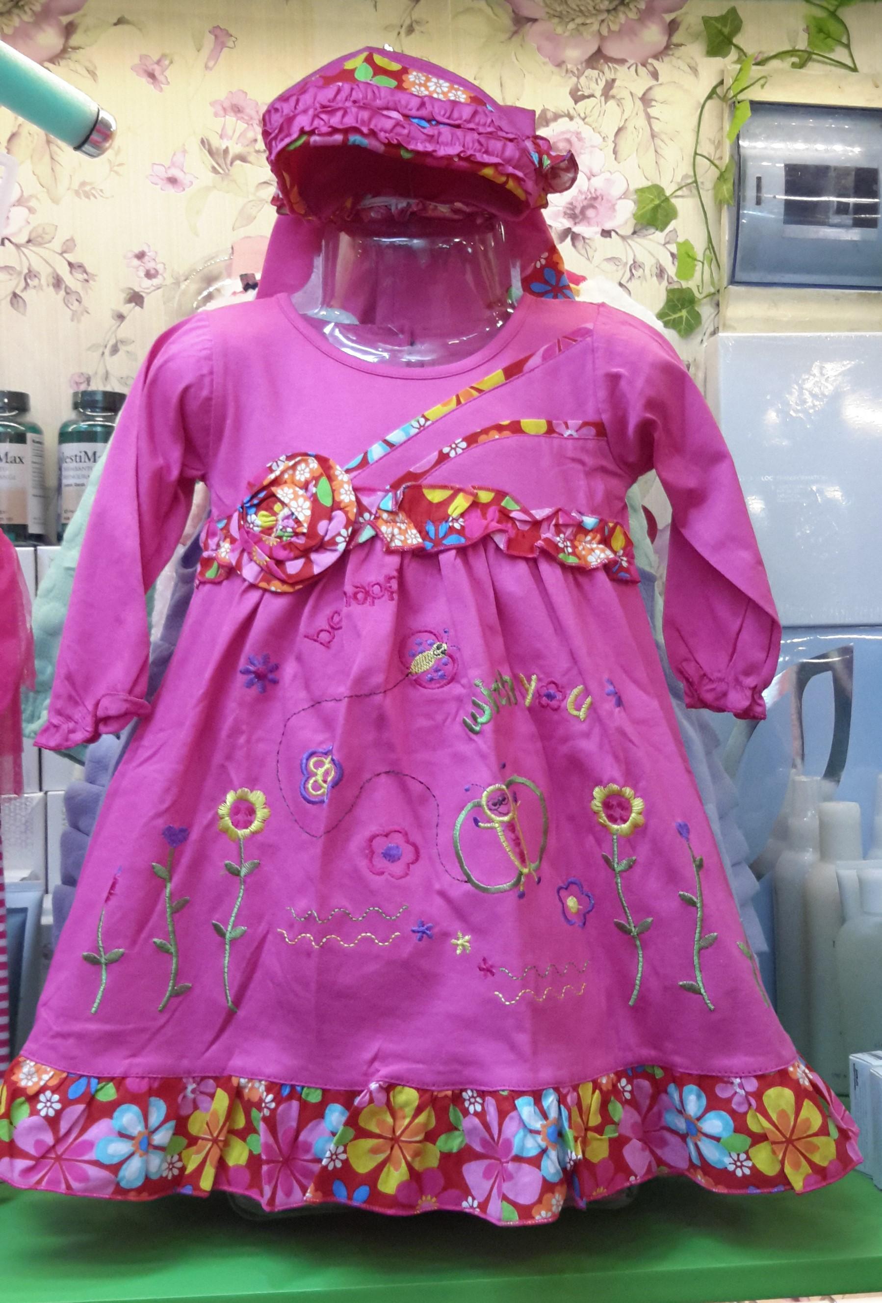 Jual Gamis Anak Perempuan Baju Muslim Anak Baju Lebaran Anak 1