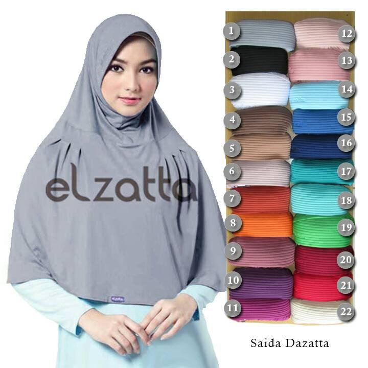 ELZATTA Saida Dazatta | Bergo | Jilbab Instan | Hijab | Kerudung