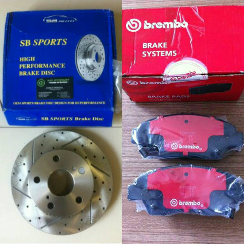 OBRAL Brake Disc Pad SPORT BREMBO Honda All New Jazz