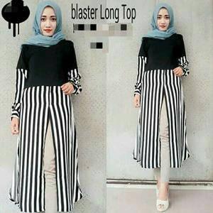 blaster long top (blouse / atasan wanita / baju muslim / hijab )