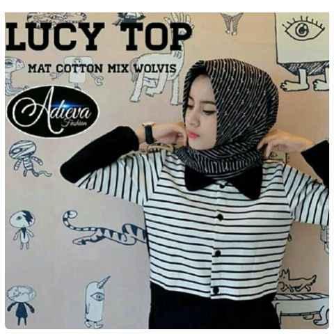 Lucy Top/Baju Atasan Wanita/Baju Muslim/Hijab/Blouse/Kemeja cewe Murah
