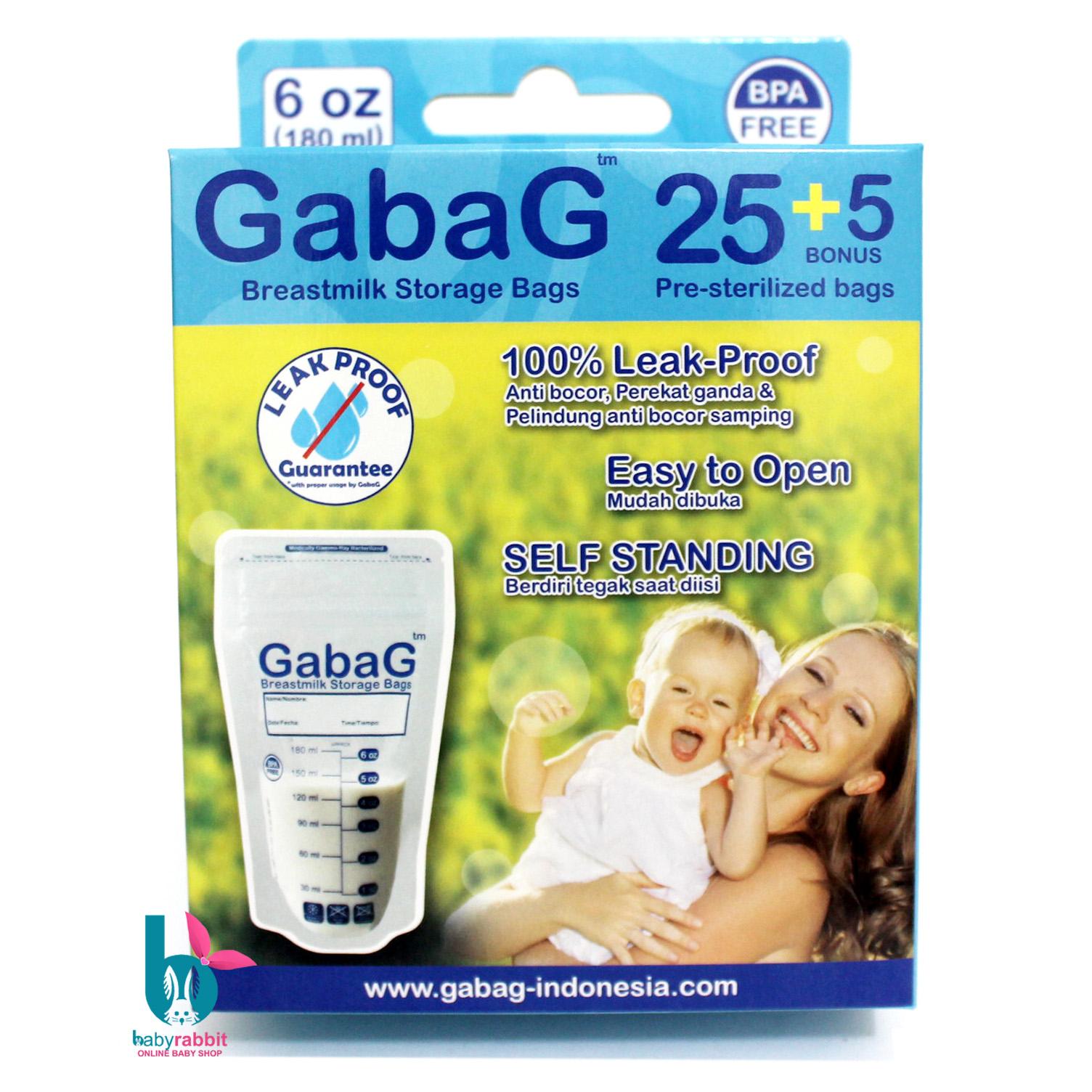 Gabag Plastik Asi 180 Ml Breastmilk Storage Kantung Kantong Milk 30pc Jual