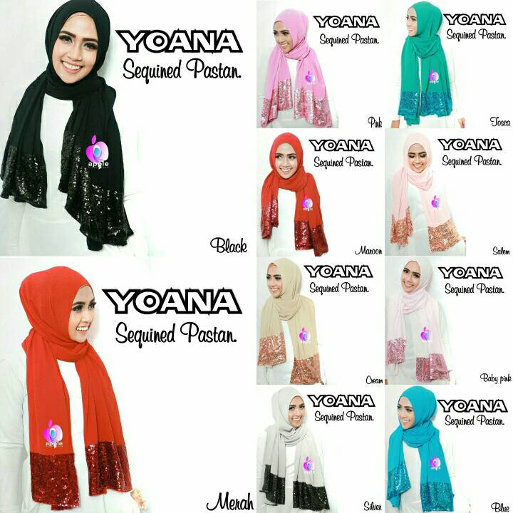 YOANA SEQUINED PASTAN by Apple Hijab Brand - Yoana Sequin