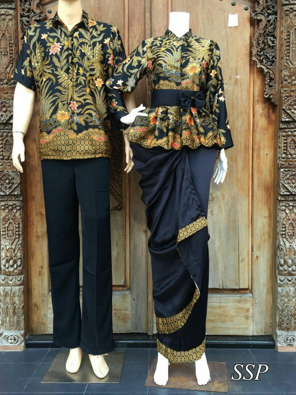 Jual baju couple batik sarimbit rok lilit & blus SSP - Lemari Batik ...
