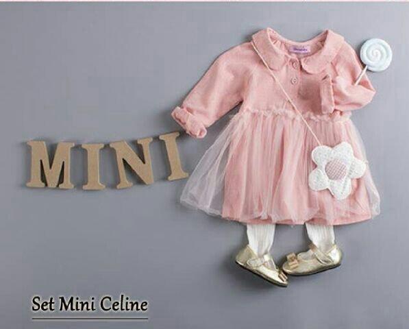 CNL-Mini Celine Kids Pink - SETELAN ANAK PEREMPUAN