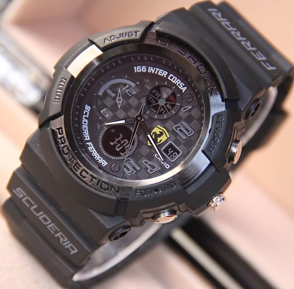 G-Shock Gshock Casio Ferrari Full Black