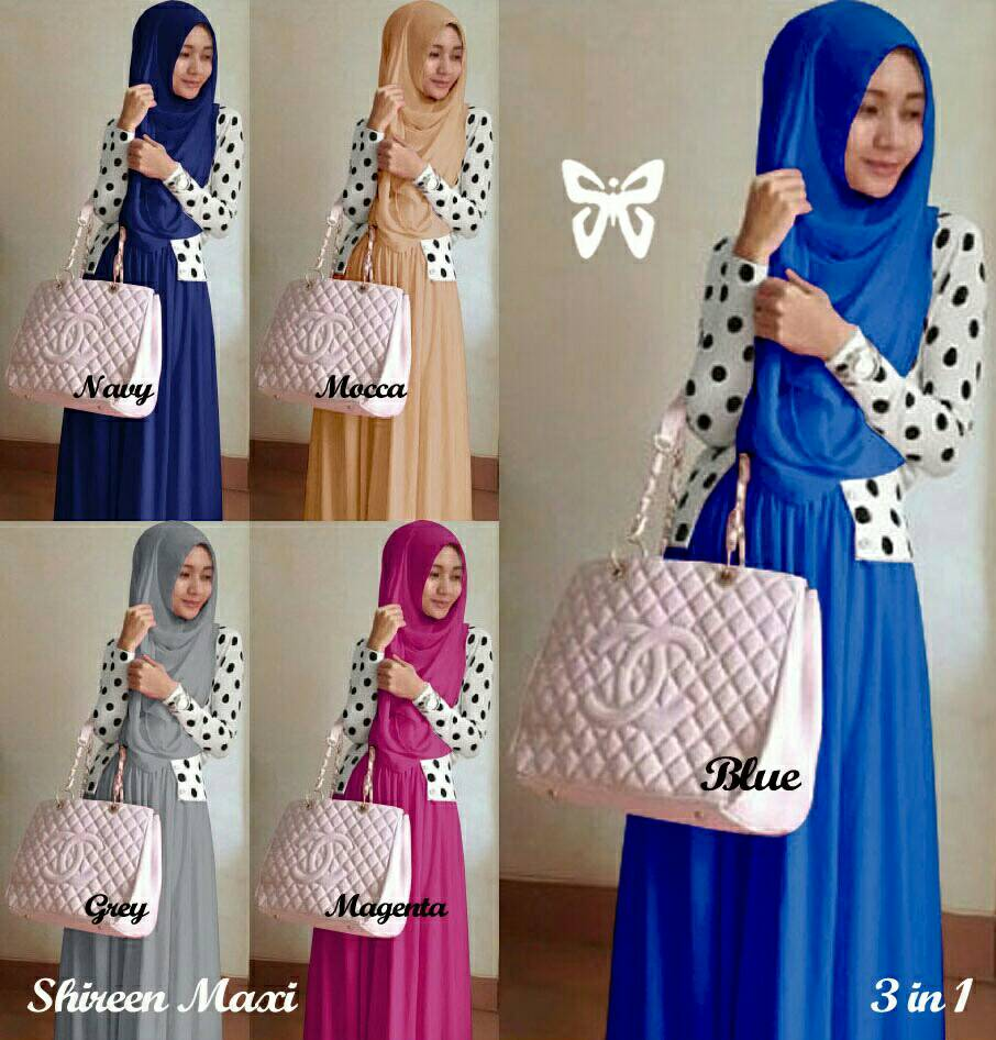 HL/maxi shiren/pusat jual baju muslim/baju muslim murah/trend hijab
