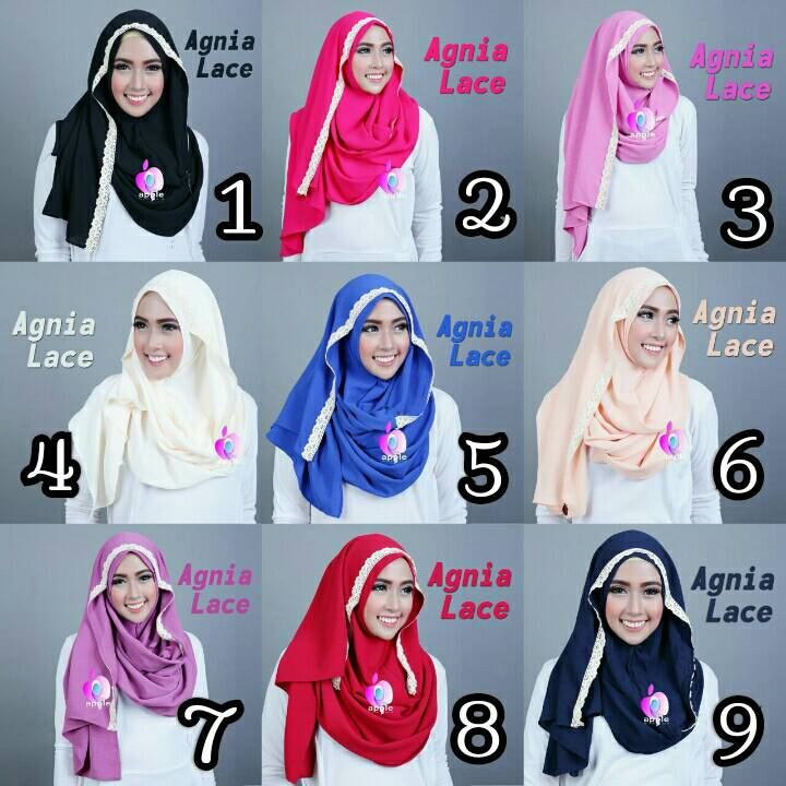 Agnia Lace By Apple Hijab Brand