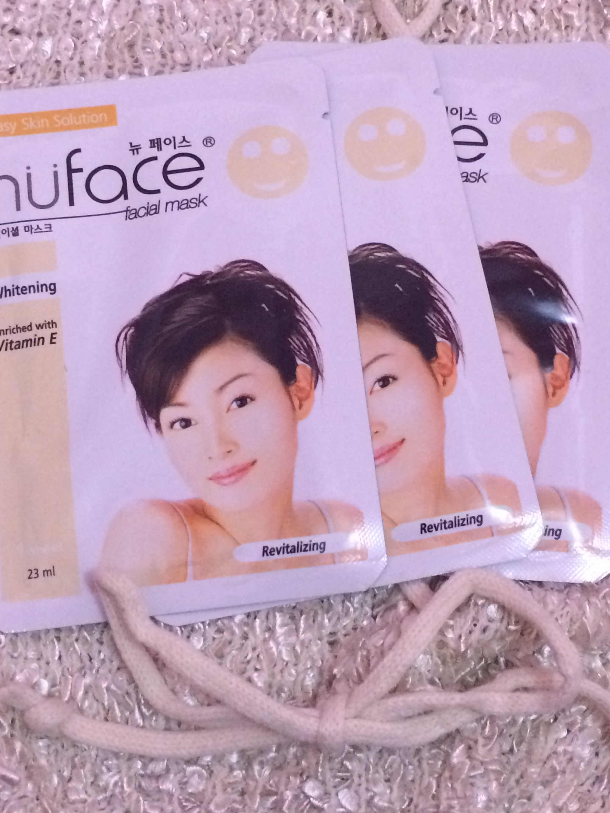 Jual Nu Face Whitening Facial Mask Revitalizing Tiffanynoonashop Nuface Tokopedia
