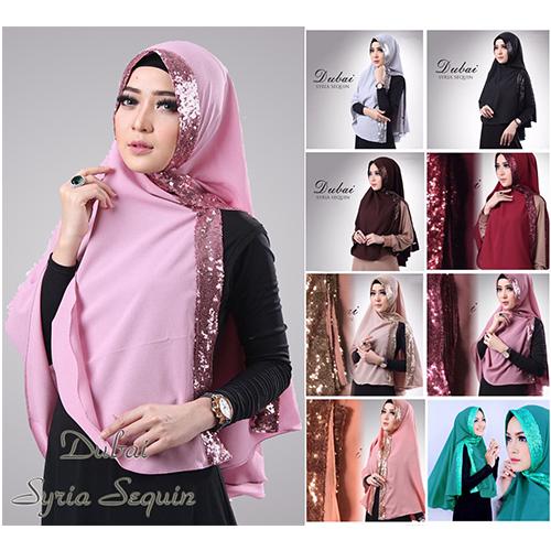 Jilbab, Hijab, Kerudung, baju muslim murah, Khimar Dubai Sequin Diamon