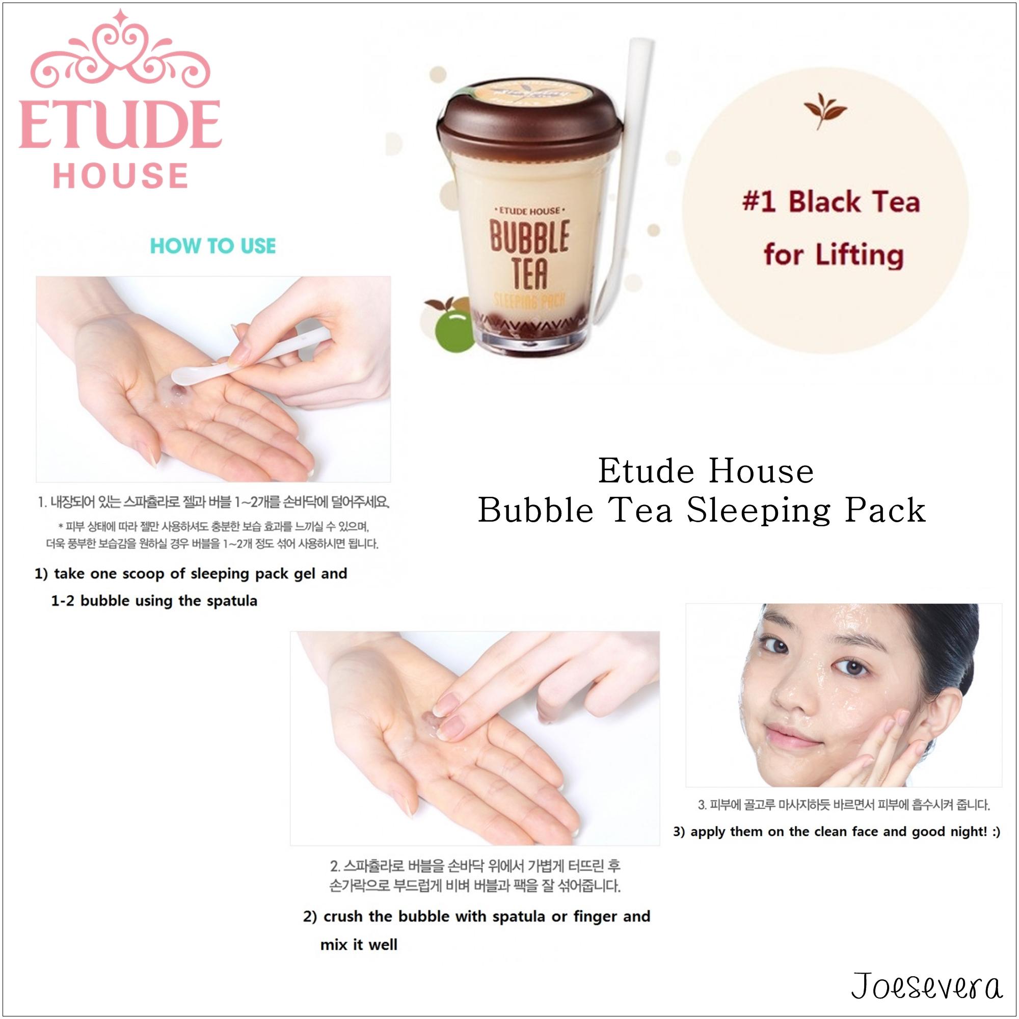... Face Mask Masker Wajah Black Source · Jual Etude House Bubble Tea Sleeping Pack Black