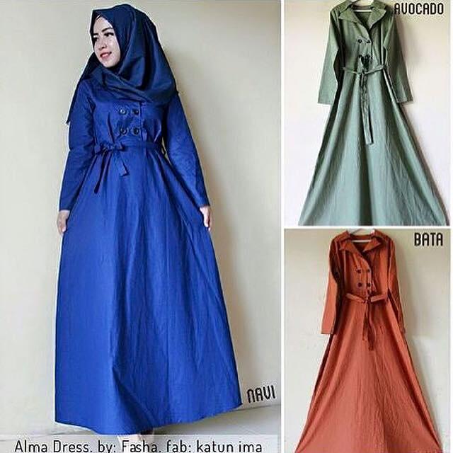 Alma dress / baju ibu hamil / grosir baju hijab gaul murah