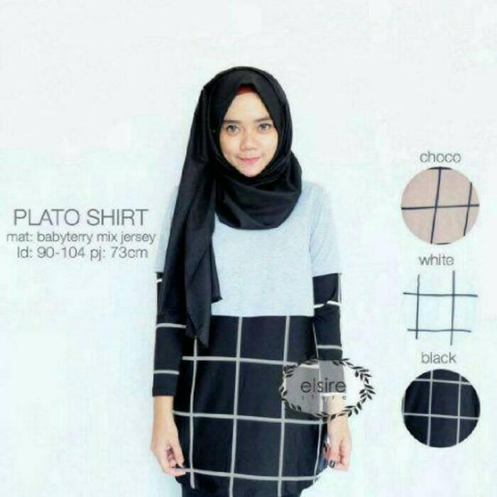 Plato shirt / baju atasan murah / grosir baju hijab