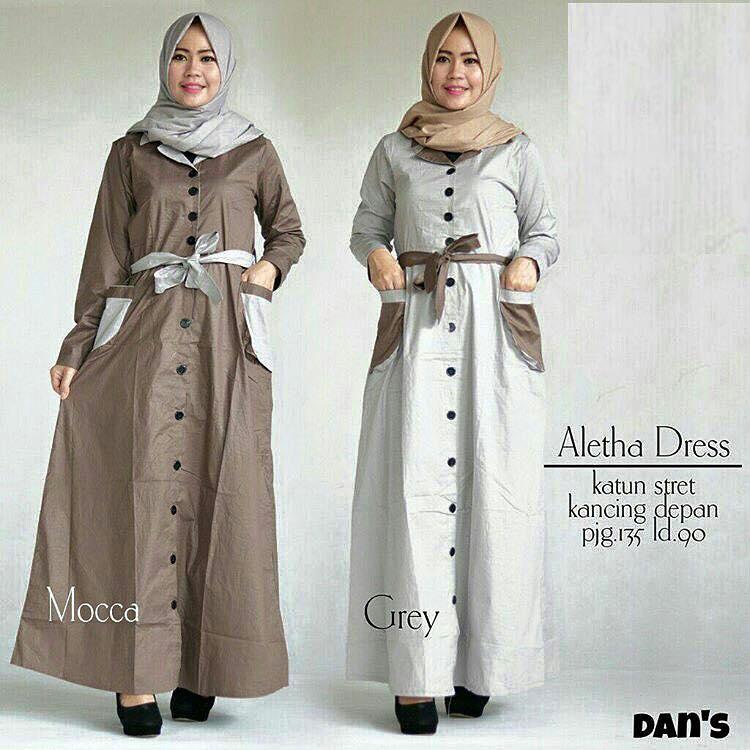 Aletha dress / baju busui murah / grosir baju hijab