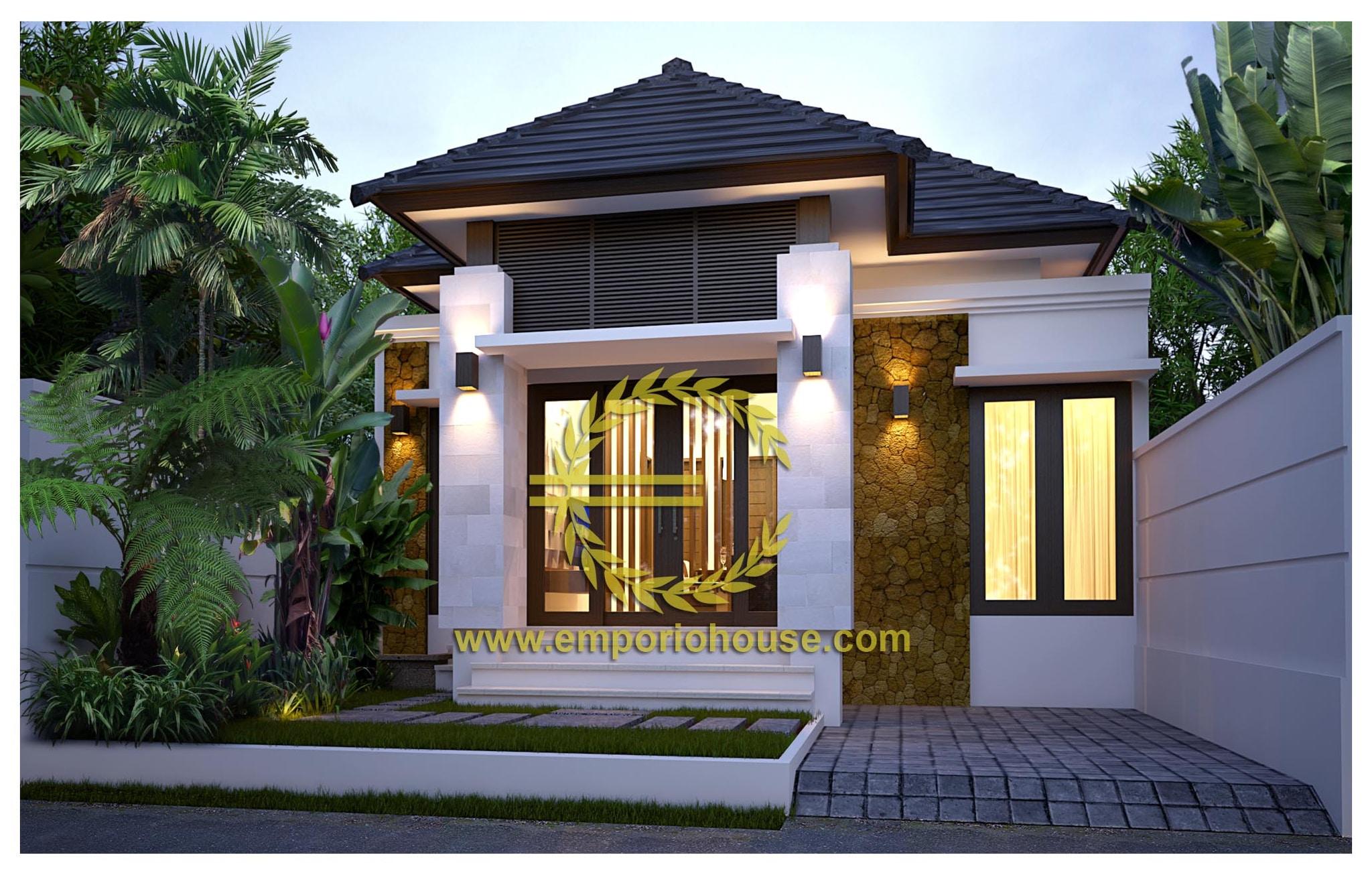 Jual Desain Rumah 1 Lantai 3 Kamar Lebar 8 M Luas Bangunan 58