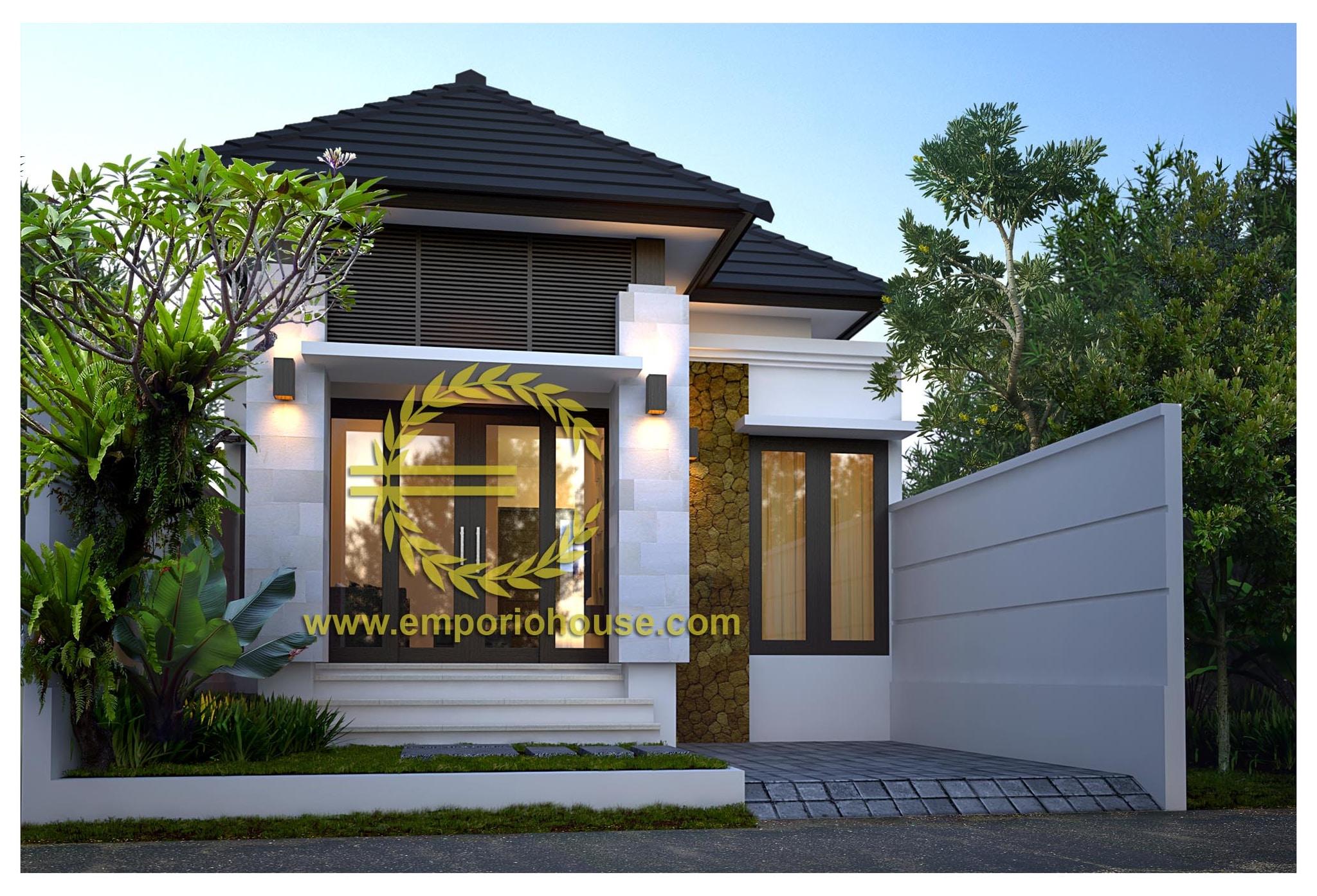 Jual Desain Rumah 1 Lantai 3 Kamar Lebar 7 M Luas Bangunan 60