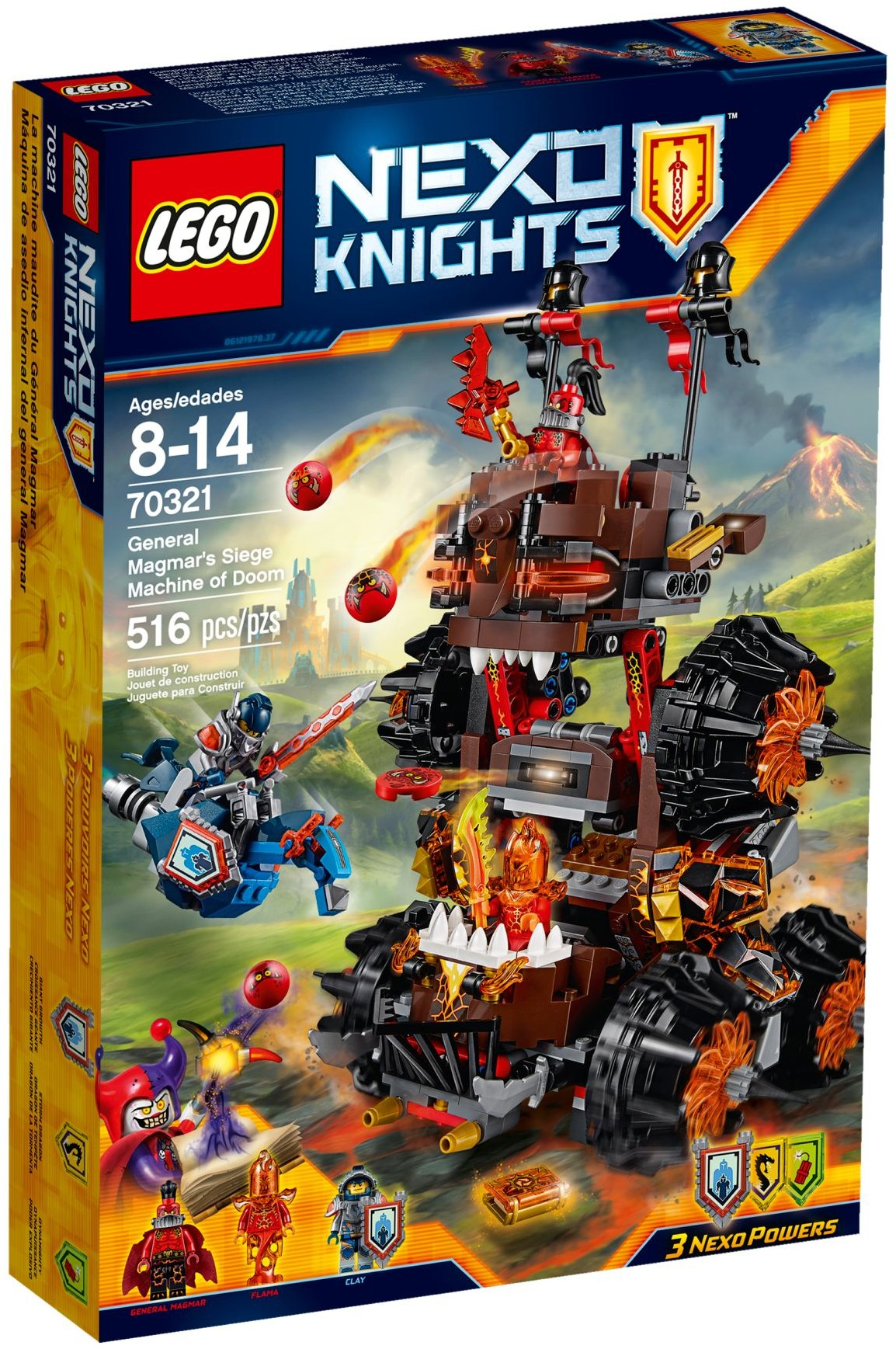 LEGO # 70321 NEXO KNIGHTS General Magmar's Siege Machine of Doom