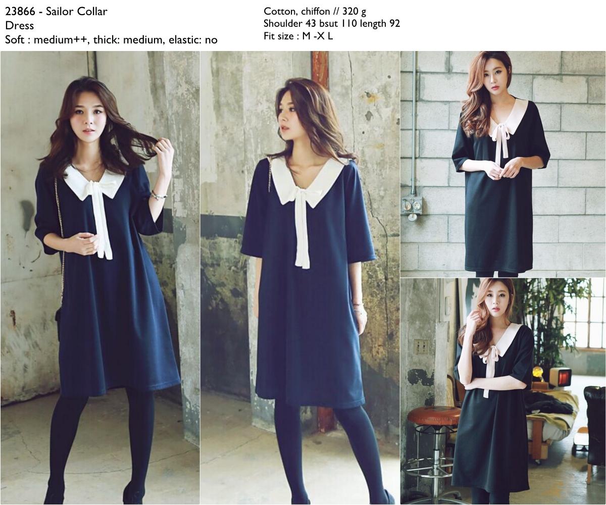 Sailor Collar Dress -23866