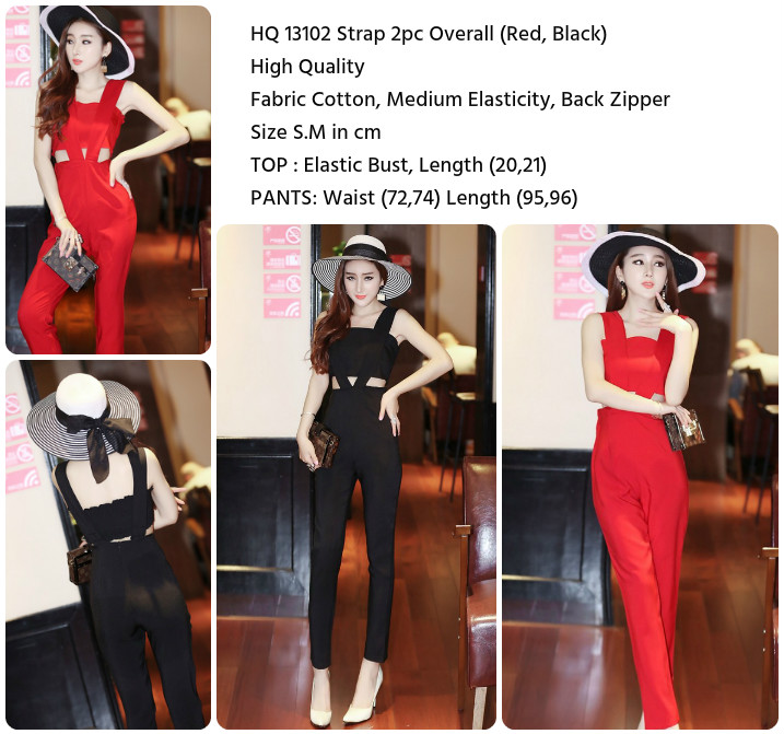 Strap 2pc Overall (BLACK/RED size S,M)-13102