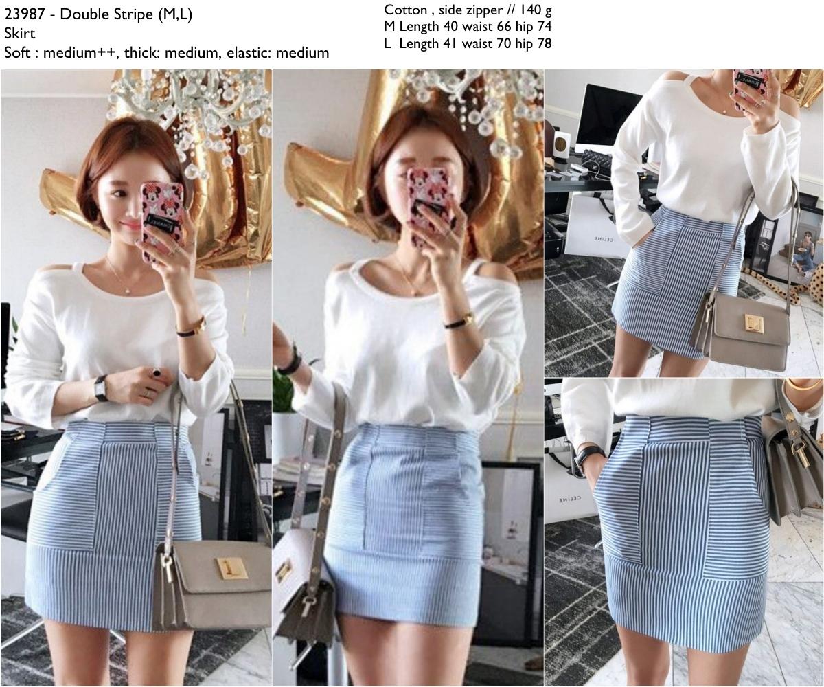 Double Stripe (M,L) Skirt -23987