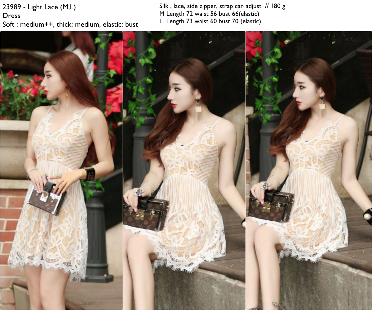 Light Lace (M,L) Dress -23989