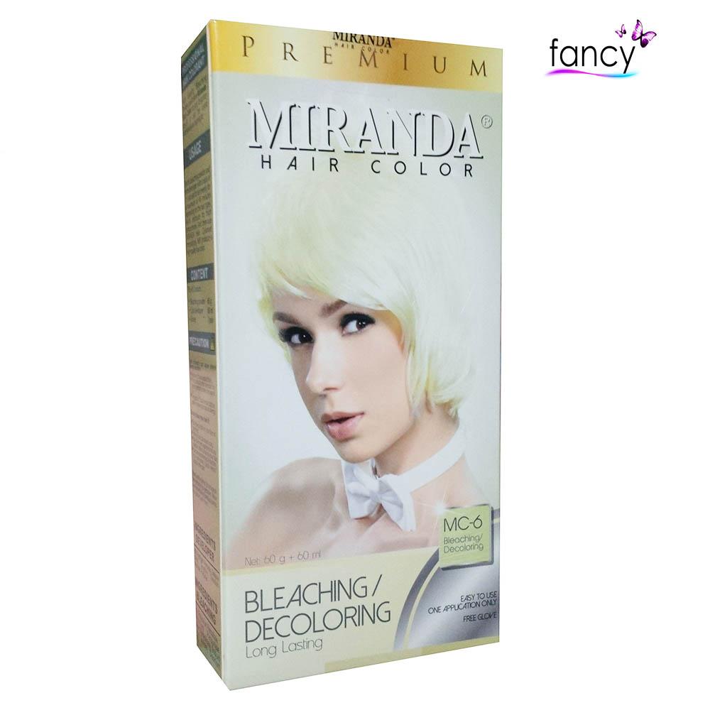 Daftar Harga Miranda Hair Color 60ml Besar Mc 6 Bleaching Decoloring Feves Cream  Gambar Terkait