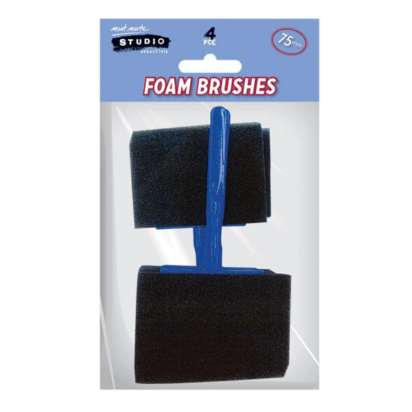 mont marte foam hobby brush 75mm set 4