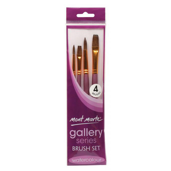 mont marte gallery series brush watercolour set 6