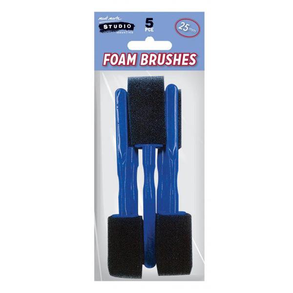mont marte foam hobby brush 25mm set 5