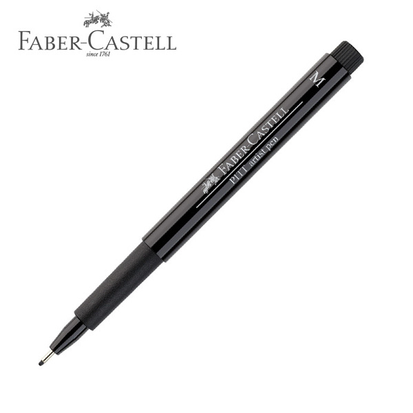 faber castell pitt artist drawing pen m medium black 2