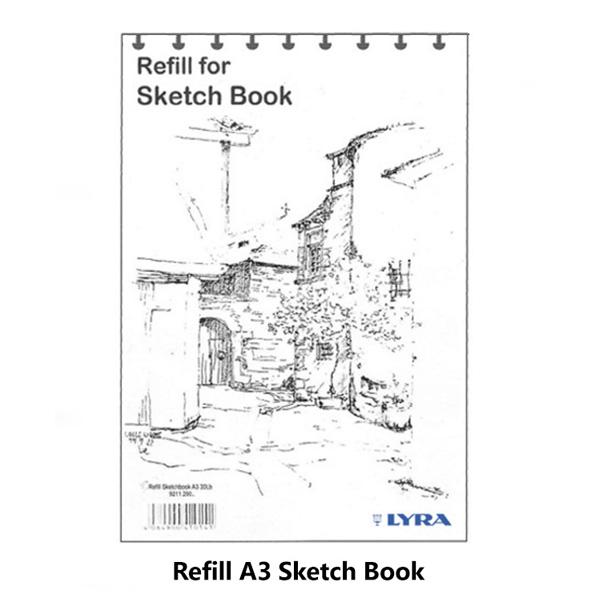 lyra sketch book refill a3 isi 35