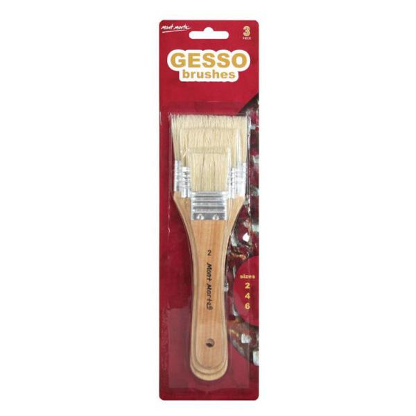 mont marte gesso brushes set 9