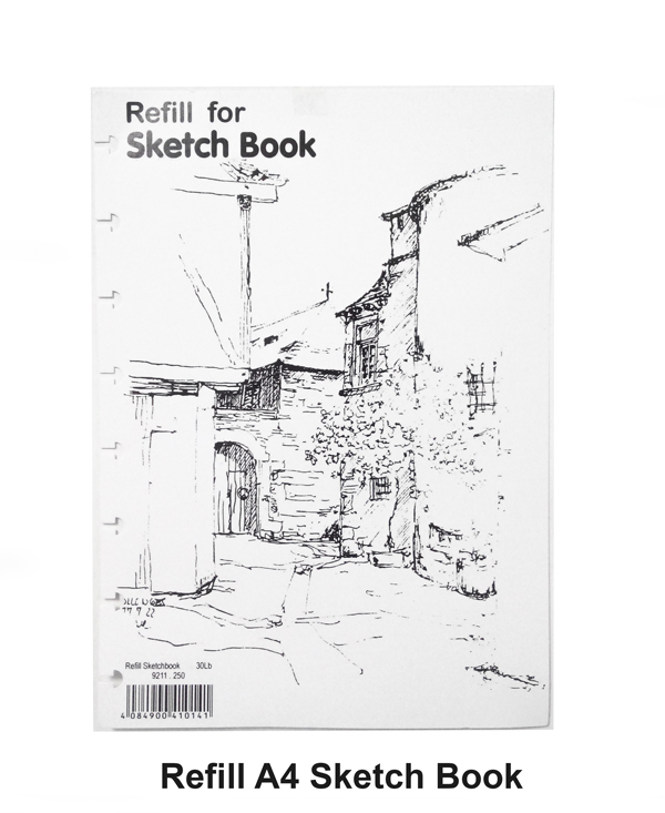 lyra sketch book refill a4 isi 36