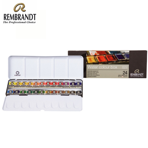 rembrandt watercolour metal deluxe set of 24 pans