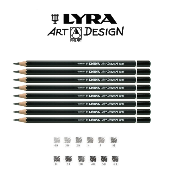 lyra rembrandt art design 669 graphite pencils 5