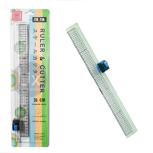 ruler amp cutter tata rc 3 35cm 4