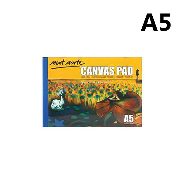 mont marte canvas pad 10 sheet a5 5