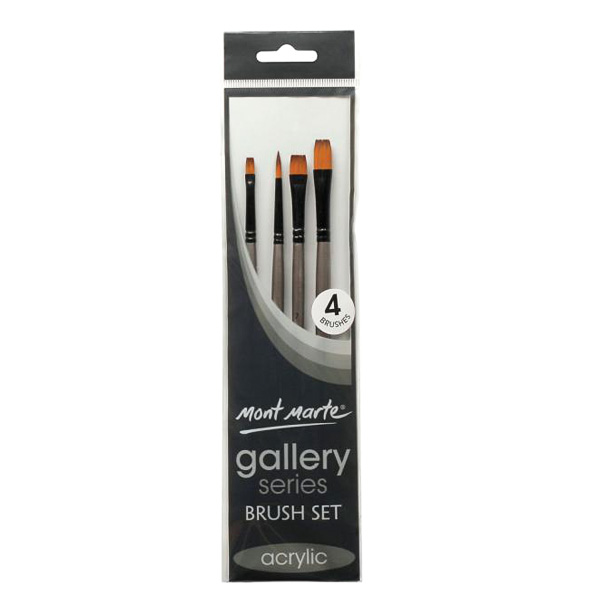 mont marte gallery series brush acrylic set 5