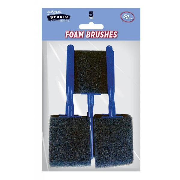 mont marte foam hobby brush 50mm set 7