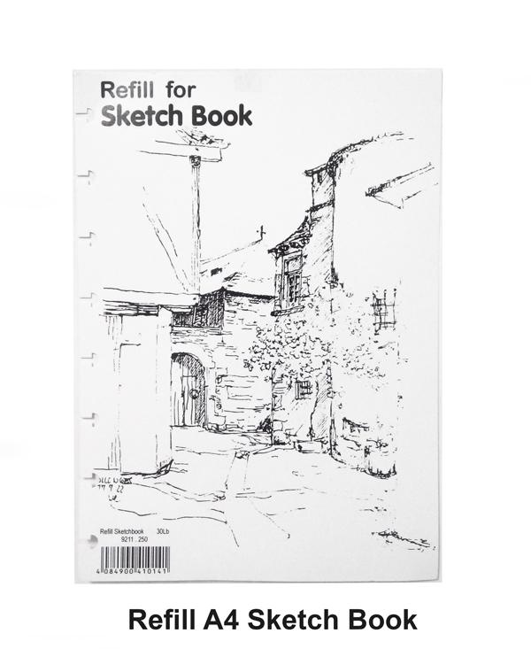 lyra sketch book refill a4 isi 35