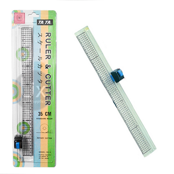 ruler amp cutter tata rc 3 35cm 2