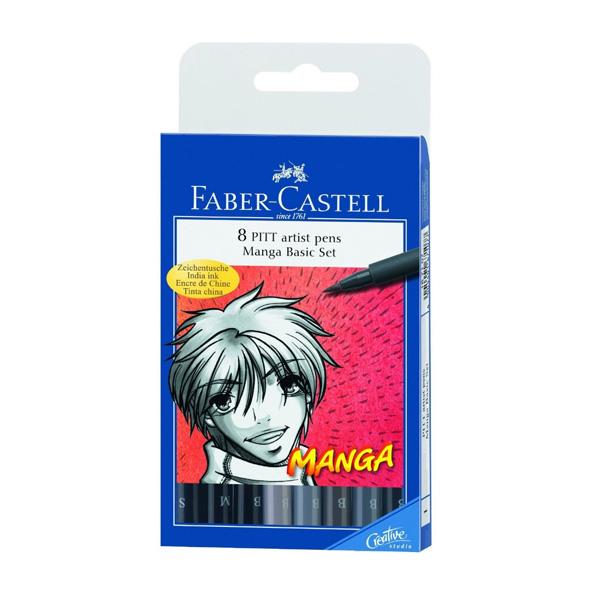 faber castell pitt artist manga pens set of 11